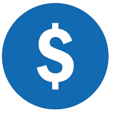 circle with dollar sign cut out of center