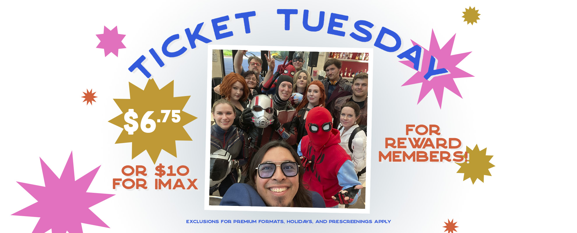 $6.75 Tuesday Ticket with IMAX image
