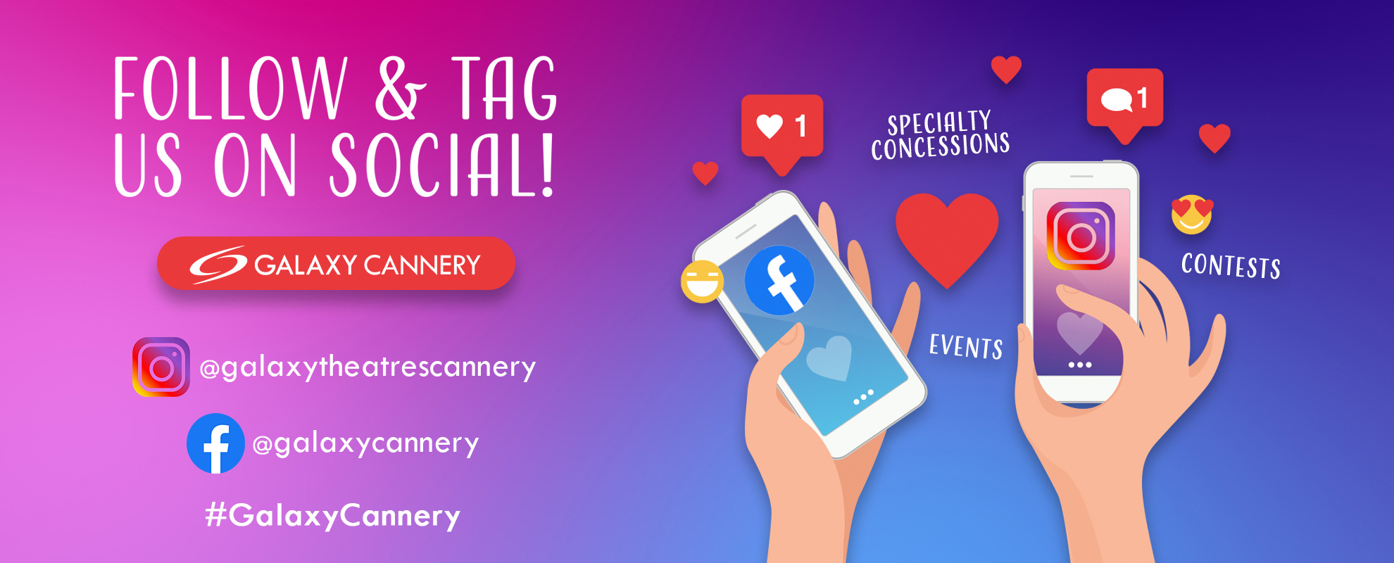 Socials/Hashtag - Cannery image