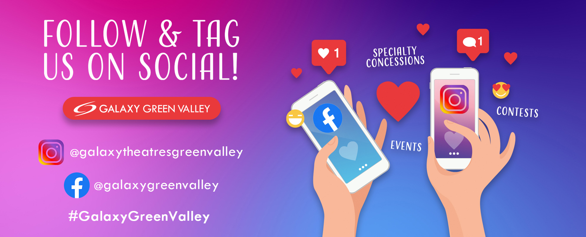 Socials/Hashtag - Green Valley image