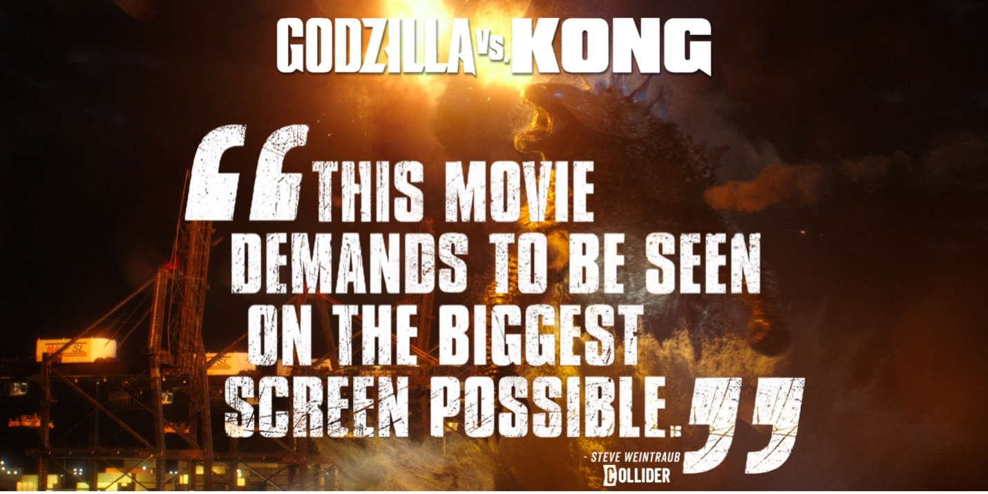 TOP 5 REASONS TO SEE GODZILLA VS KONG AT GALAXY THEATRES image