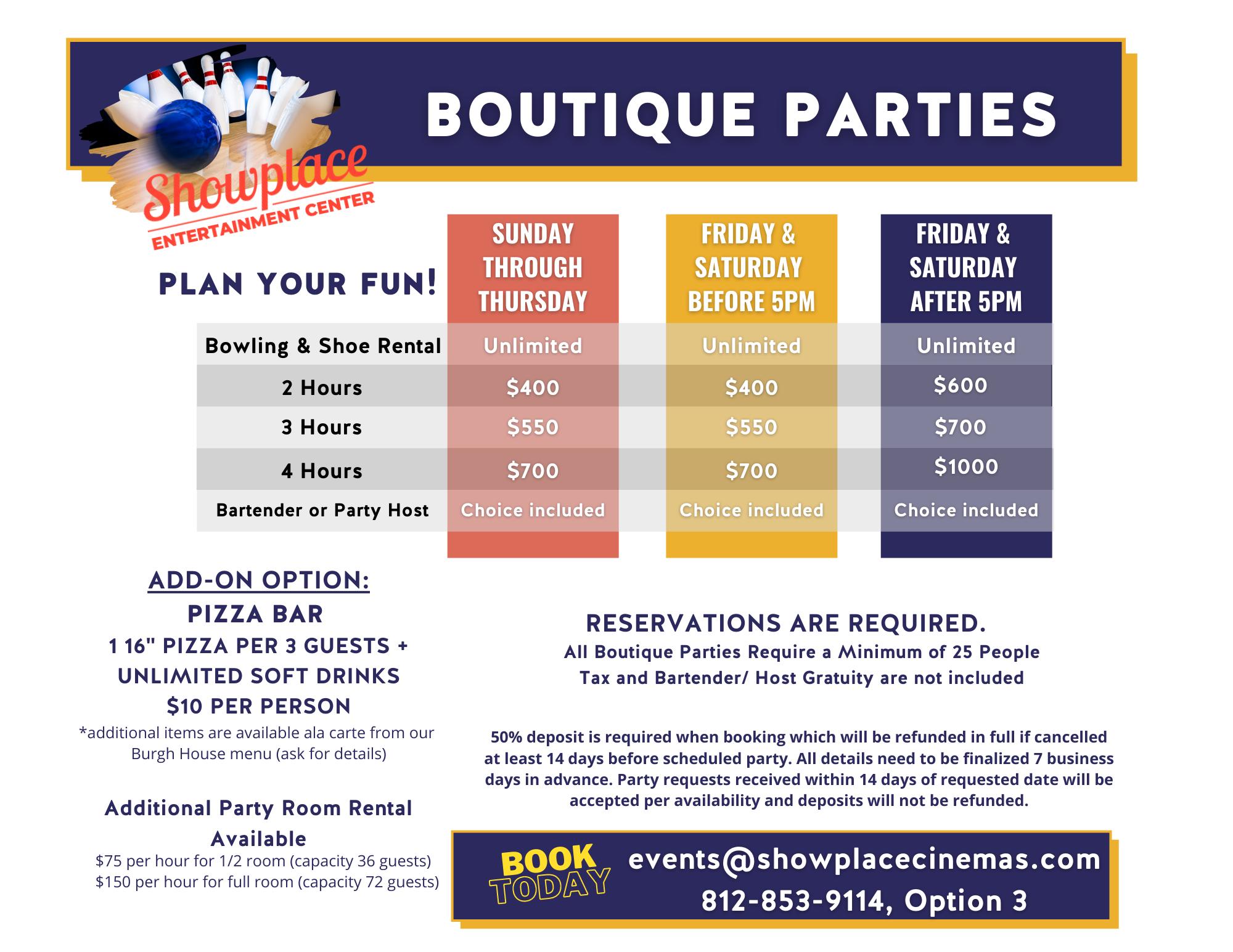 boutique party flyer