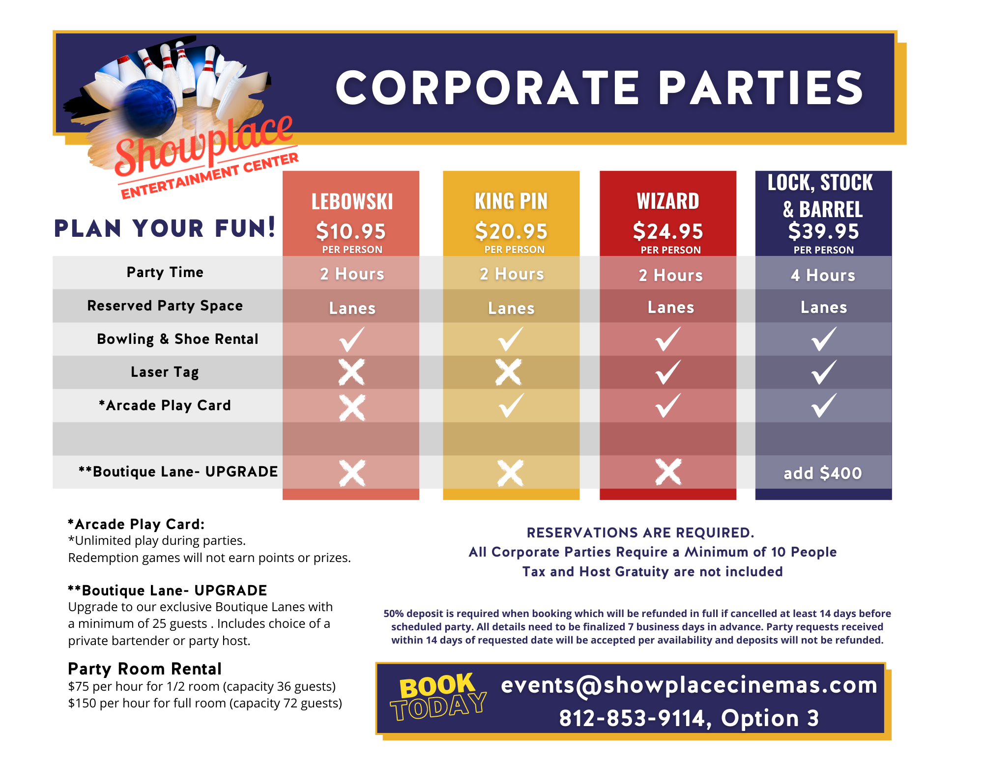 corporate party flyer