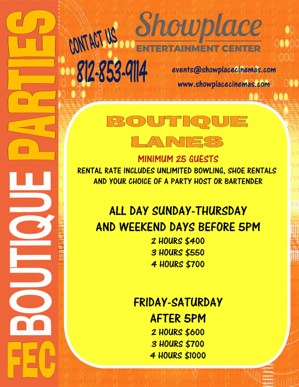 boutique party flyer