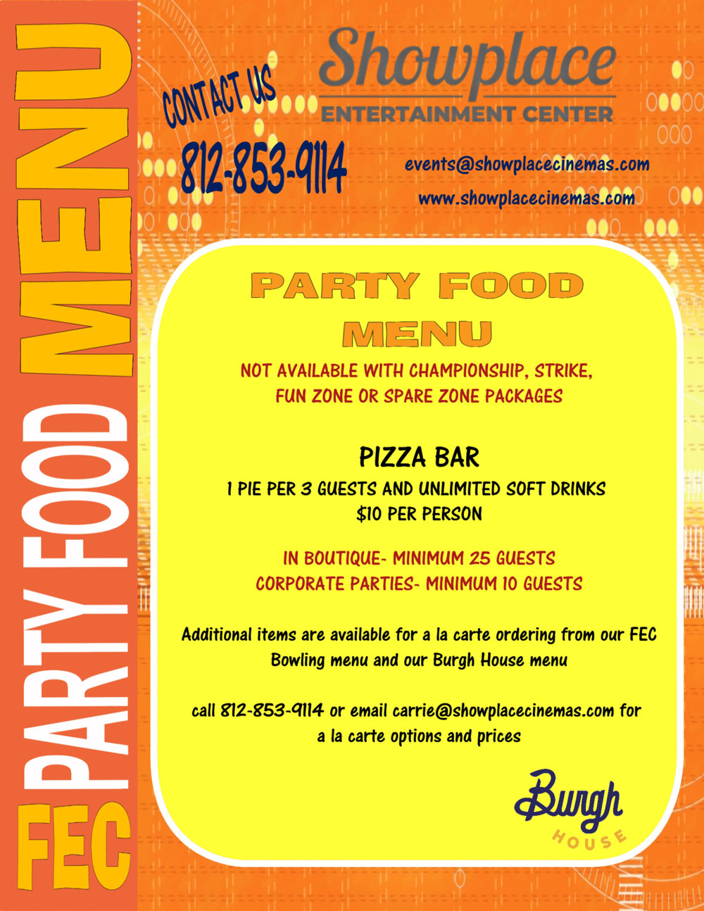 party food menu